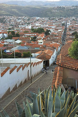 View from Recoleta Hill across Sucre, Bolivia, South America