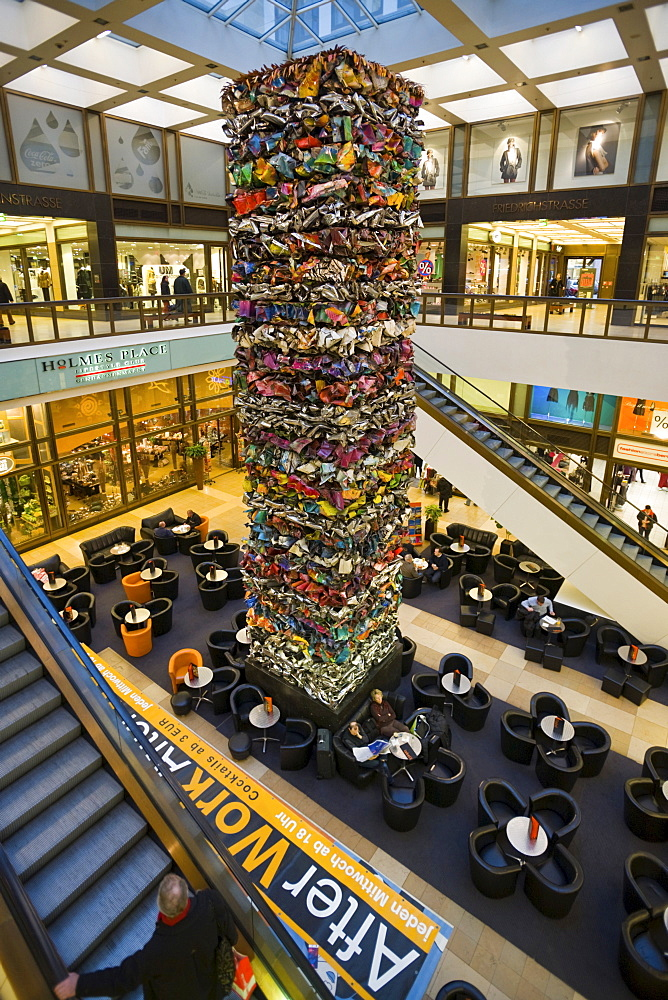 Shopping-Center Quartier 205 with sculpture, Friedrichstrasse, Mitte, Berlin, Germany, Europe