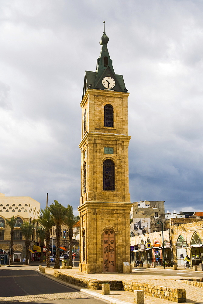 Clock tower in Jaffa, Tel Aviv, Israel, Middle East