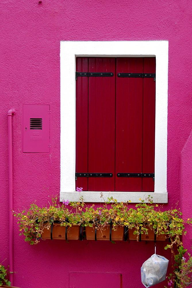 House facade, Burano Island, Venice, Italy, Europe