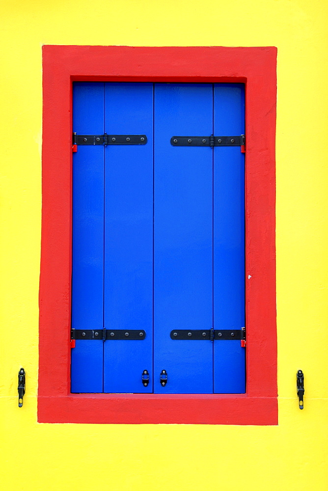 Window, Burano, Island of Burano, Venice, Venetia, Italy