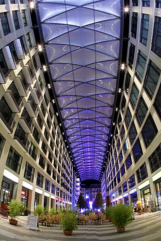Shopping Mall Heiliggeistgasse in Berlin during the Festival of Lights