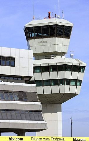 Tower at Berlin airport Otto Lilienthal in Tegel, Berlin, Germany, Europe