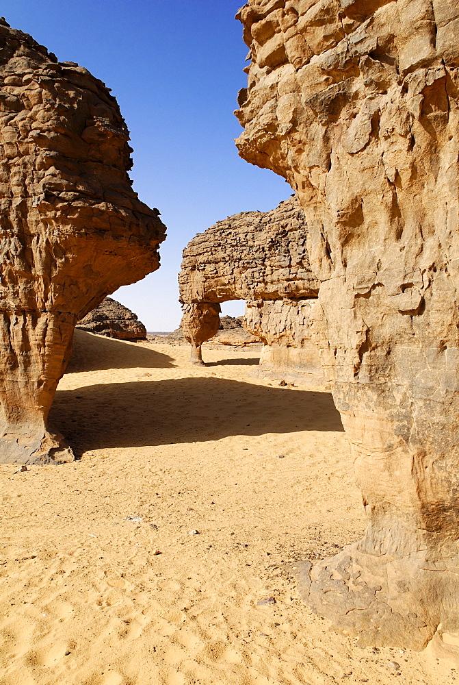 Rock formations, Youf Ahakit, Tassili du Hoggar, Wilaya Tamanrasset, Sahara Desert, Algeria, North Africa