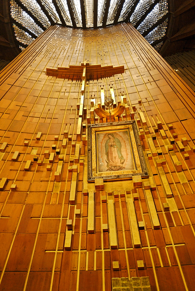Famous church of pilgrimage La Basilica de Nuestra Senora de Guadalupe, Mexico City, Mexico, Central America