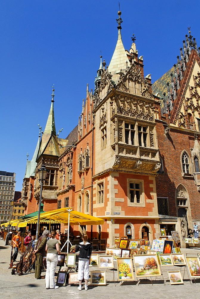 Historic Townhall, rynek of Wroclaw, Silesia, Poland Europe