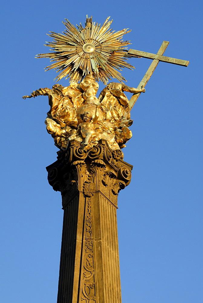 Golden Crown of the Plague column, UNESCO World Heritage Site, Olomouc, Northern Moravia, Czech Republic, Europe
