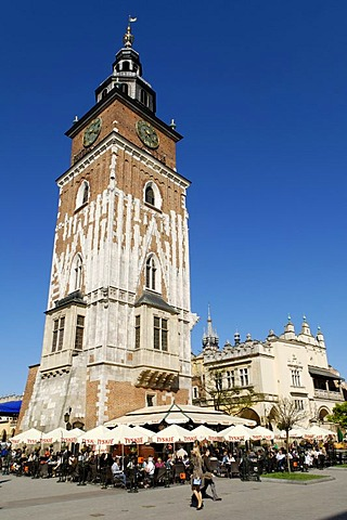 Town Hall Tower on the Rynek Krakowski, Main Market Square, UNESCO World Heritage Site, Krakow, Poland, Europe
