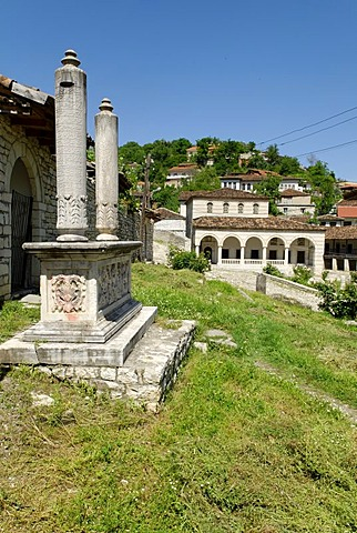 Ottoman Han beside the Kings Mosque in Berat, UNESCO World Heritage Site, Albania, Europe