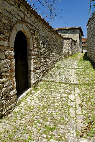 Alley in Berat fortress, UNESCO World Heritage Site, Albania, Europe