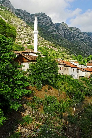 Mosque in the Skanderbeg city of Kruje, Albania, Europe