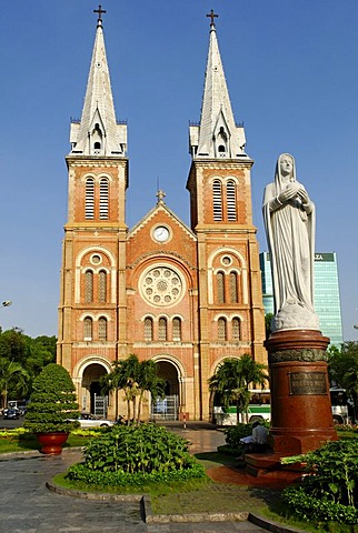 Historic Cathedral in Saigon, Ho Chi Minh City, Vietnam, Asia