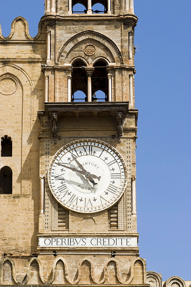 Clock tower, Cathedral of Palermo, Palermo, Sicily, Italy