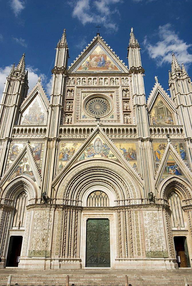 Westwerk of Orvieto Cathedral, west facade, Orvieto, Umbria, Italy, Europe