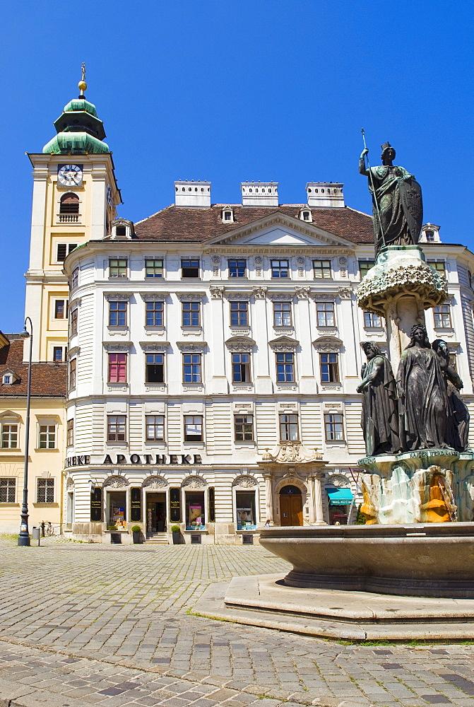 """""""Schubladkasten House"""", Austria Fountain and Scottish Church, Freyung, Vienna, Austria"""