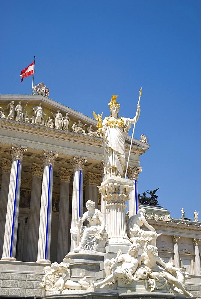 Pallas Athen in front of Parliament, Vienna, Austria