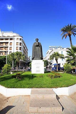 Statue of Ibn Chaldun in Tunis, Tunisia