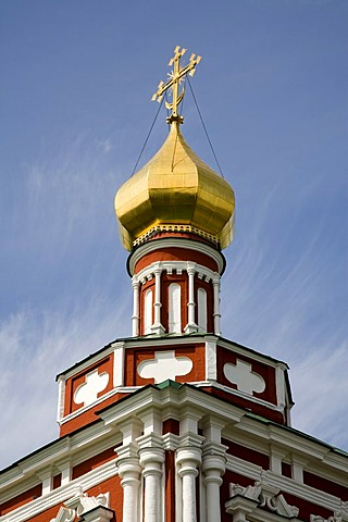 New Maiden Monastery Tower of the Mary's dead Cathedral, Moscow, Russia, East Europe, Europe