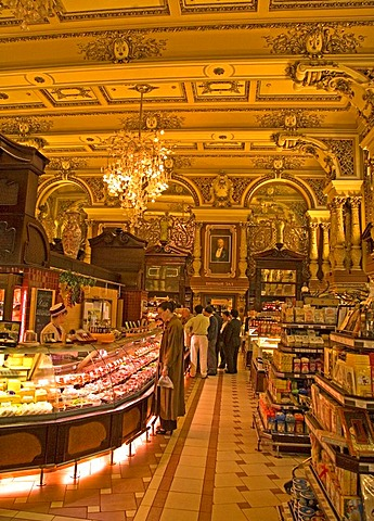 Inside View of Shop Jelissejew, Moscow, Russia, Eastreurope, Europe,