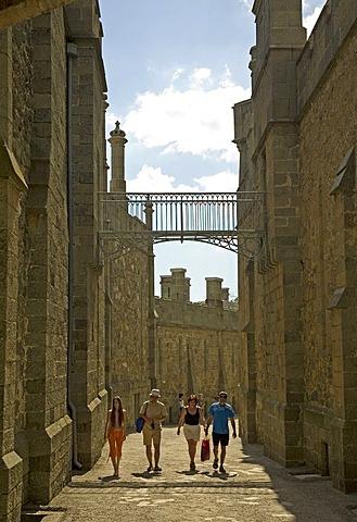 Visitors around the Castle Voroncov, Jalta, Crimea, Ukraine, South-Easteurope, Europe,