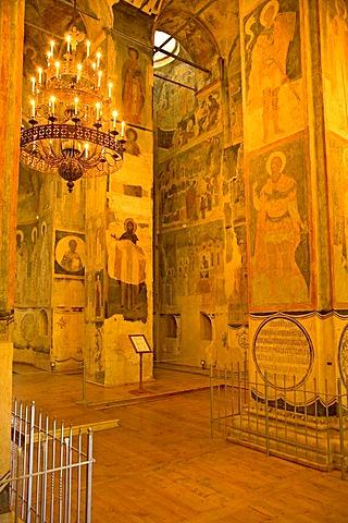 Transfiguration of the Saviour monastery, interior of the church, Yaroslavl, Russia