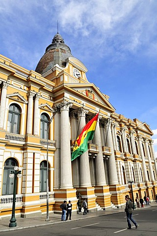 Facade of the Presidential Palace, La Paz, Bolivia, South America