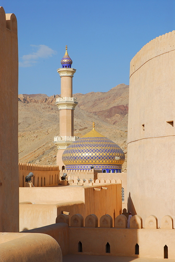 Dome of sultan Qaboos mosque, Nizwa, Oman