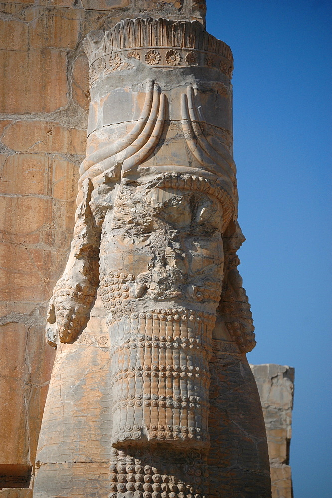 "Statue at the ""Gate of all countries"", Persepolis, Iran"