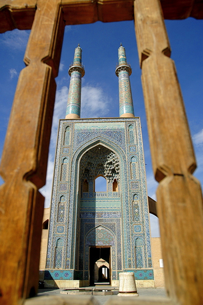 Minarets of friday mosque, Yazd, Iran