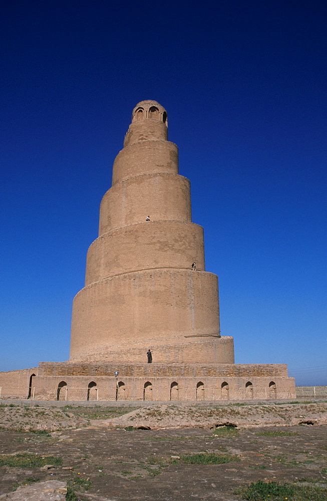 Spiral minaret of the Great Mosque (Jami al-Kabir), Samarra, Iraq, Middle East