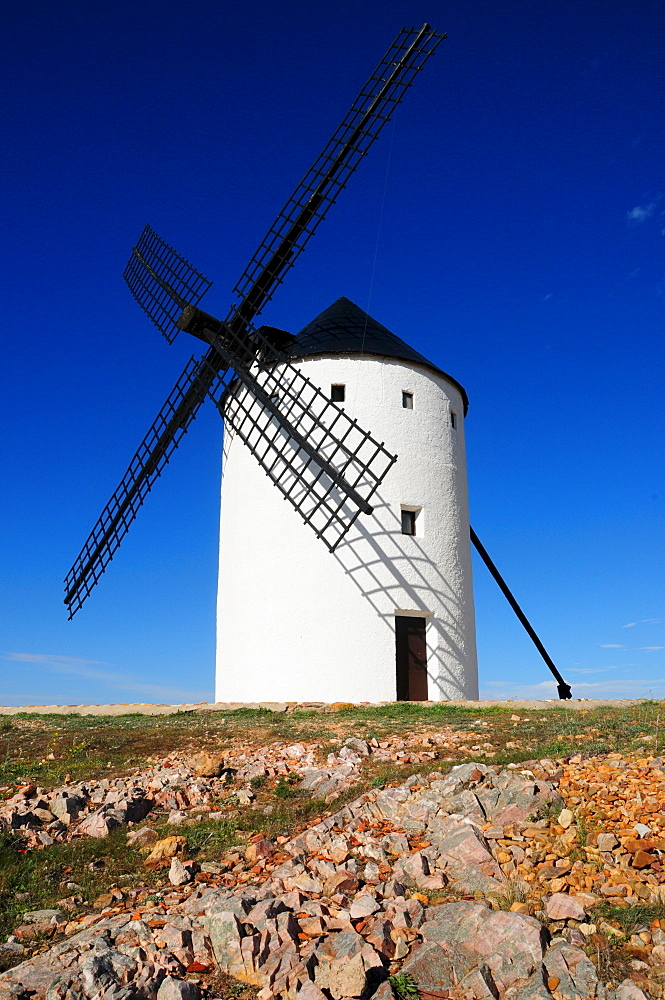Windmill on the Cerro de San Anton near Alcazar de San Juan, Castilla-La Mancha Region, Spain