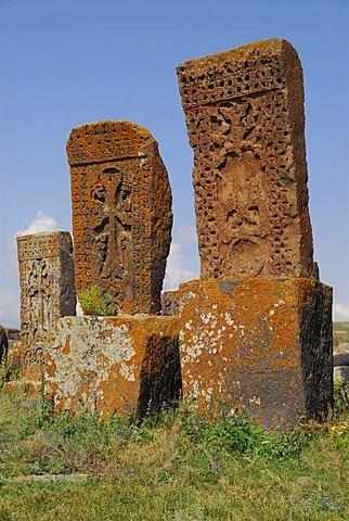 Graves at Noraduz Cemetery, Armenia, Asia