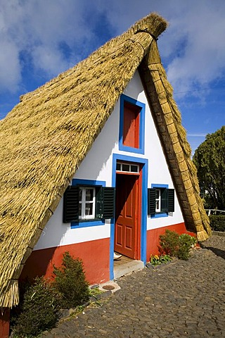Thatched farmhouse in Santana, Madeira, Portugal