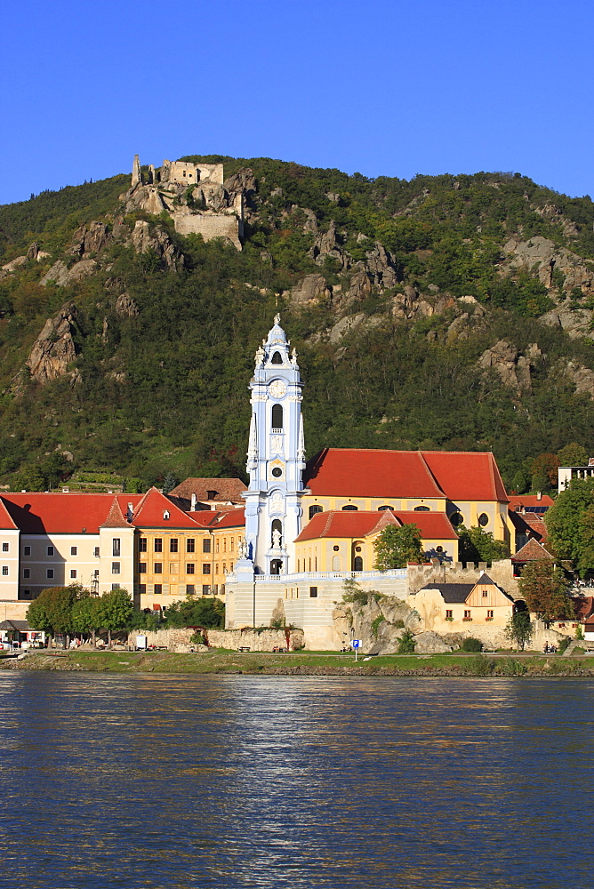 Church in Duernstein at Danube river, Austria, Lower Austria, Wachau Region