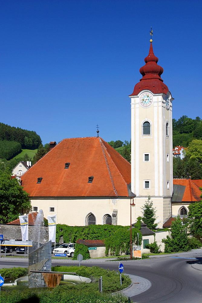 Church Spitalkirche in Waidhofen / Ybbs, Austria, Lower Austria, Mostviertel Region