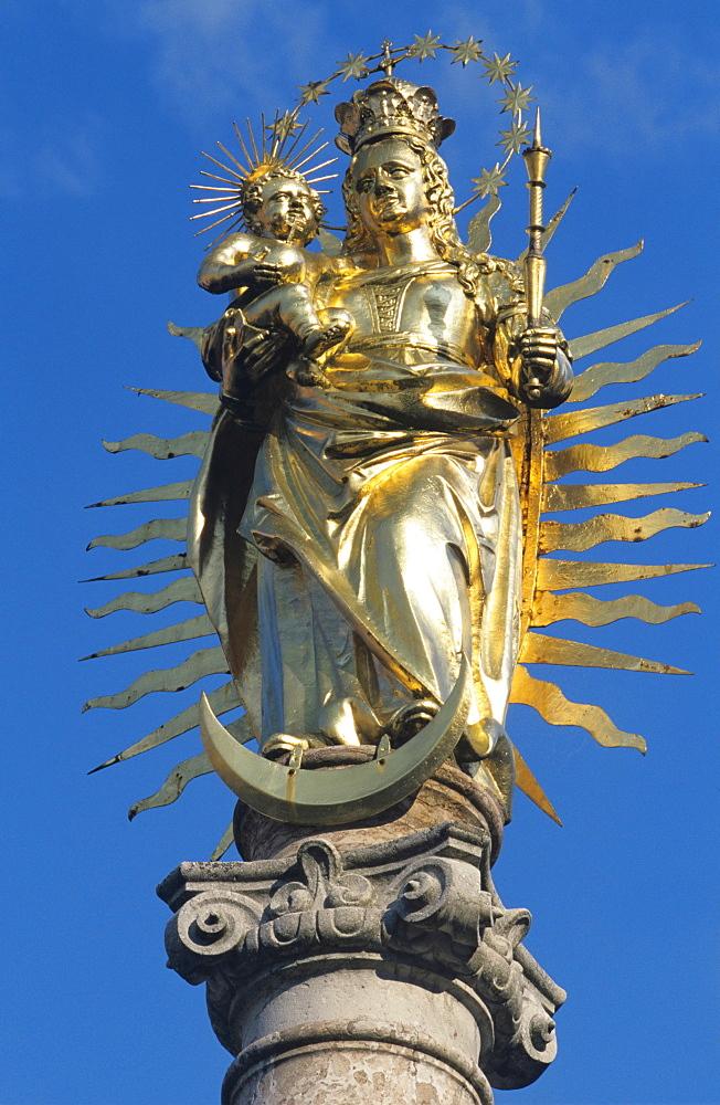 Statue of Holy Mary, Waidhofen/Ybbs, Mostviertel Region, Lower Austria, Austria