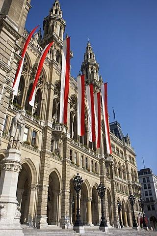Town hall in Vienna, Austria, Europe