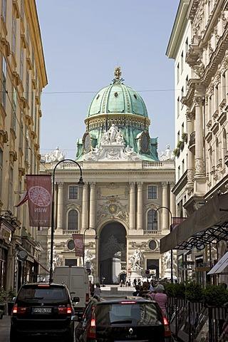 Hofburg Palace and Kohlmarkt, 1st. District, Vienna, Austria, Europe