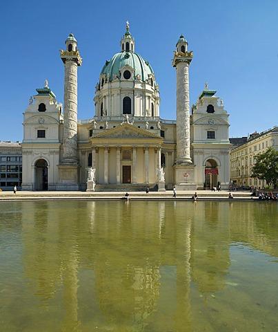 St. Charles Church or Karlskirche, Vienna, Austria, Europe