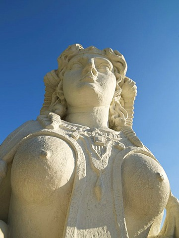 Sphinx in the Belvedere Castle gardens, Vienna, Austria, Europe