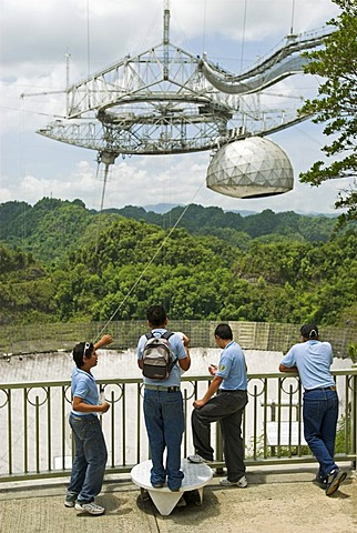 Radio telescope of Arecibo, Puerto Rico