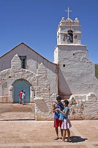 Church of San Pedro de Atacama, Atacama desert, northern Chile, South America