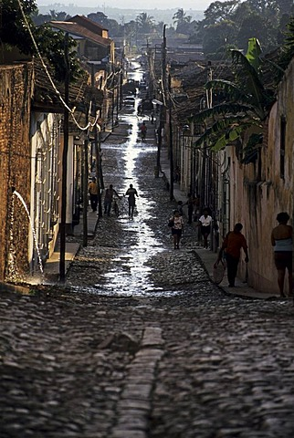 Street after a thunderstorm, Trinidad, Cuba