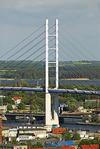 New bridge to Ruegen island, Hanseatic city of Stralsund, Mecklenburg Western Pomerania, Germany, Europe
