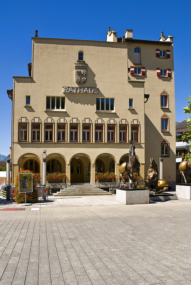 Town Hall, Vaduz, Liechtenstein, Europe