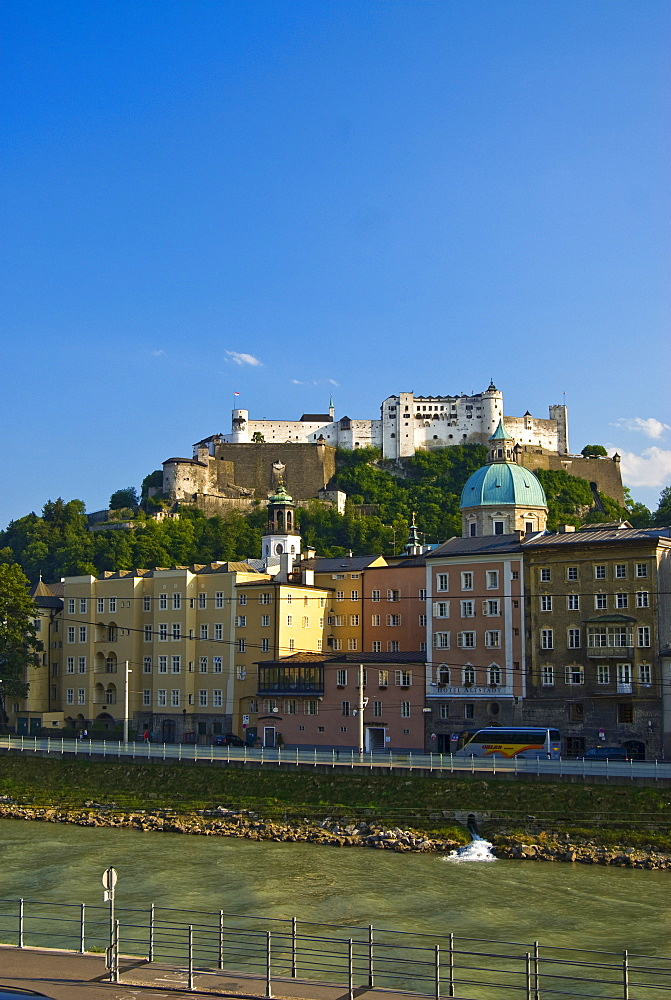 View of Salzburg and the Hohensalzburg Fortress, Salzburg, Austria