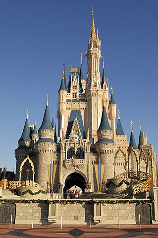 Cinderella's Castle in Walt Disney World, Florida, USA
