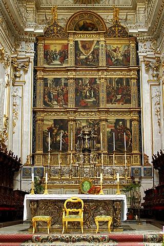 Main altar Cathedral of San Giorgio Modica Italy