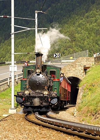 Steam locomotive HG 2/3 1-8 Breithorn, built 1906, Matterhorn Gotthard Bahn, Switzerland