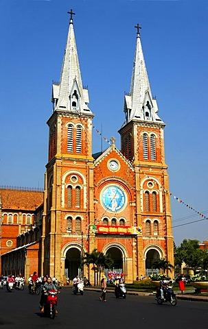 Catholic cathedral Notre Dame, Ho Chi Minh City, Saigon, Viet Nam